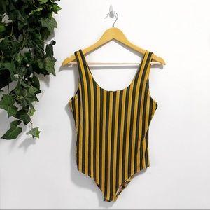 Tops - 3/$25 🌵 Yellow Striped Bodysuit